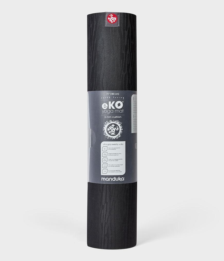 КОВРИК ДЛЯ ЙОГИ MANDUKA Mats-eKO 6mm 2.0-71 inch-Black (черный)