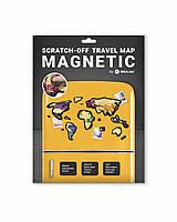 Скретч Карта Мира Travel Map ® MAGNETIC World | карта путешествий | карта желаний | оригинальный подарок, фото 1
