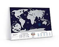 Скретч Карта Мира Travel Map ® Holiday | карта путешествий | карта желаний | оригинальный подарок, фото 1
