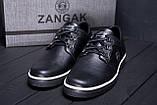 Чоловічі шкіряні кеди ZG New Line Black, фото 8