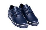 Чоловічі шкіряні кеди ZG New Line Blue, фото 3
