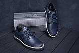 Чоловічі шкіряні кеди ZG New Line Blue, фото 9