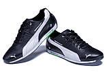 Мужские кожаные кроссовки  Puma BMW MotorSport Black ., фото 4