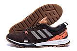 Чоловічі шкіряні кросівки Adidas A19 Brown Star ;, фото 5