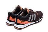 Чоловічі шкіряні кросівки Adidas A19 Brown Star ;, фото 6