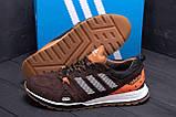 Чоловічі шкіряні кросівки Adidas A19 Brown Star ;, фото 7