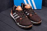 Чоловічі шкіряні кросівки Adidas A19 Brown Star ;, фото 8