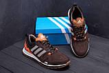 Чоловічі шкіряні кросівки Adidas A19 Brown Star ;, фото 9