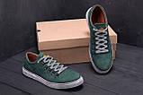 Мужские кожаные кеды Timderland Green Leaf ., фото 7