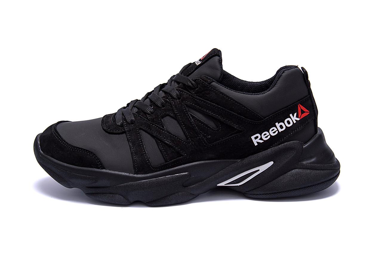 Чоловічі шкіряні кросівки Reebok Classic Black .