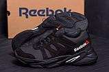 Чоловічі шкіряні кросівки Reebok Classic Black ., фото 7