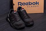 Чоловічі шкіряні кросівки Reebok Classic Black ., фото 8