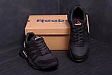 Чоловічі шкіряні кросівки Reebok Classic Black ., фото 9
