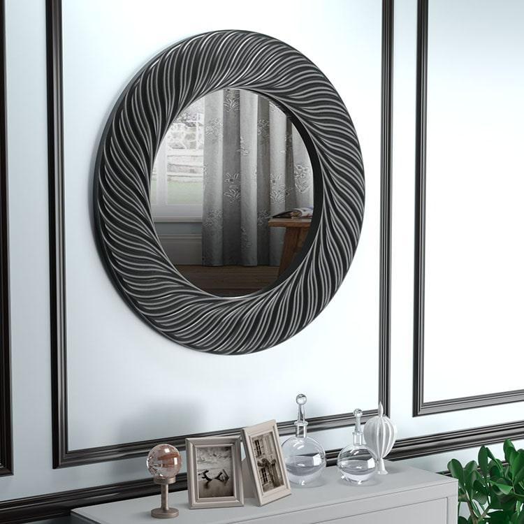 Зеркало в ванную черное Vienna K1
