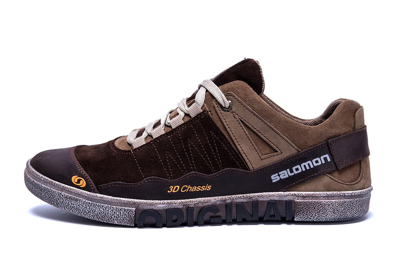 Мужские кожаные кроссовки Salomon Chocolate Trend .