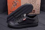 Чоловічі шкіряні кеди Vans Clasic Black ., фото 7