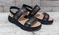 Жіночі шкіряні босоніжки, сандалі шльопанці TIFFANY