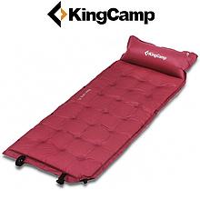 Самонадувающийся коврик KingCamp Base Camp XL (wine red)