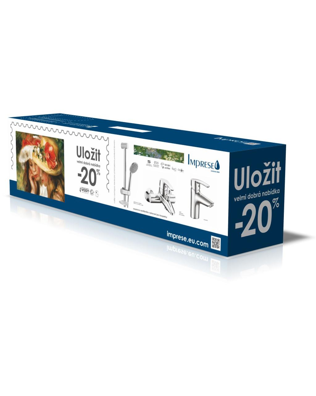 Набір змішувачів для ванни Imprese Kit 20080, хром