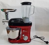 Кухонный комбайн Domotec MS-2050 3 В 1 блендер/тестомес/мясорубка 1200 W