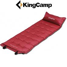 Самонадувающийся коврик KingCamp Base Camp Comfort (wine red)