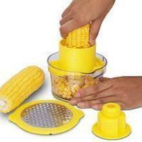 Терка для кукурузы с контейнером RV2   прибор для очистки кукурузы   кукурузочистка, фото 1