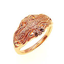"""Кольцо Xuping """"Богородица, моли Бога о нас"""", из медицинского золота, позолота 18K, 11871       (21)"""