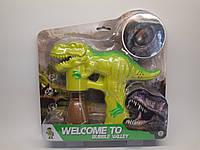 Мильні бульбашки BV6701 пістолет-динозавр, 2 кольори, муз., світло, бат., лист, 29-29-5 см.