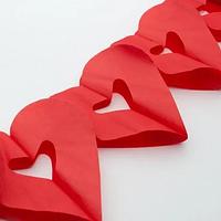 🔥 Распродажа! Качественная декоративная Гирлянда Сердечки красные, свадебная