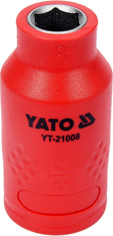 """Головка торцевая шестигранная диэлектрическая YATO 3/8"""" М8 х 45/28 мм VDE до 1000 В"""