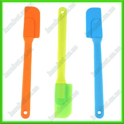 Лопатка силиконовая L24см ручка 17см ширина 3,5см, фото 2