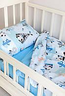 Комплект постельного белья Sweet Sleep Голубой Панды-индейцы 110х140
