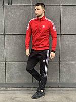 Мужской спортивный костюм Adidas  красный (Адидас)