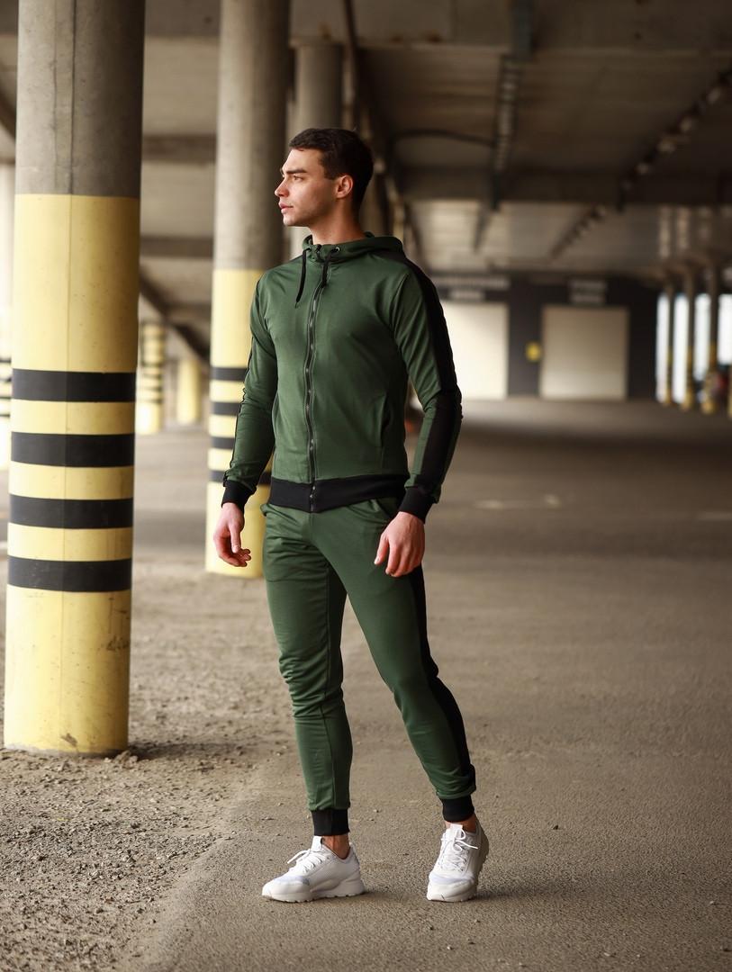 Мужской спортивный костюм Змейка (зеленый)