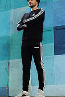 Мужской спортивный костюм Adidas (черный), фото 1