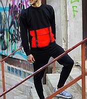 Мужской спортивный костюм Свитшот Стропы + штаны (красный), фото 1