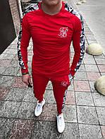 Мужской спортивный костюм Свитшот + штаны (красный), фото 1