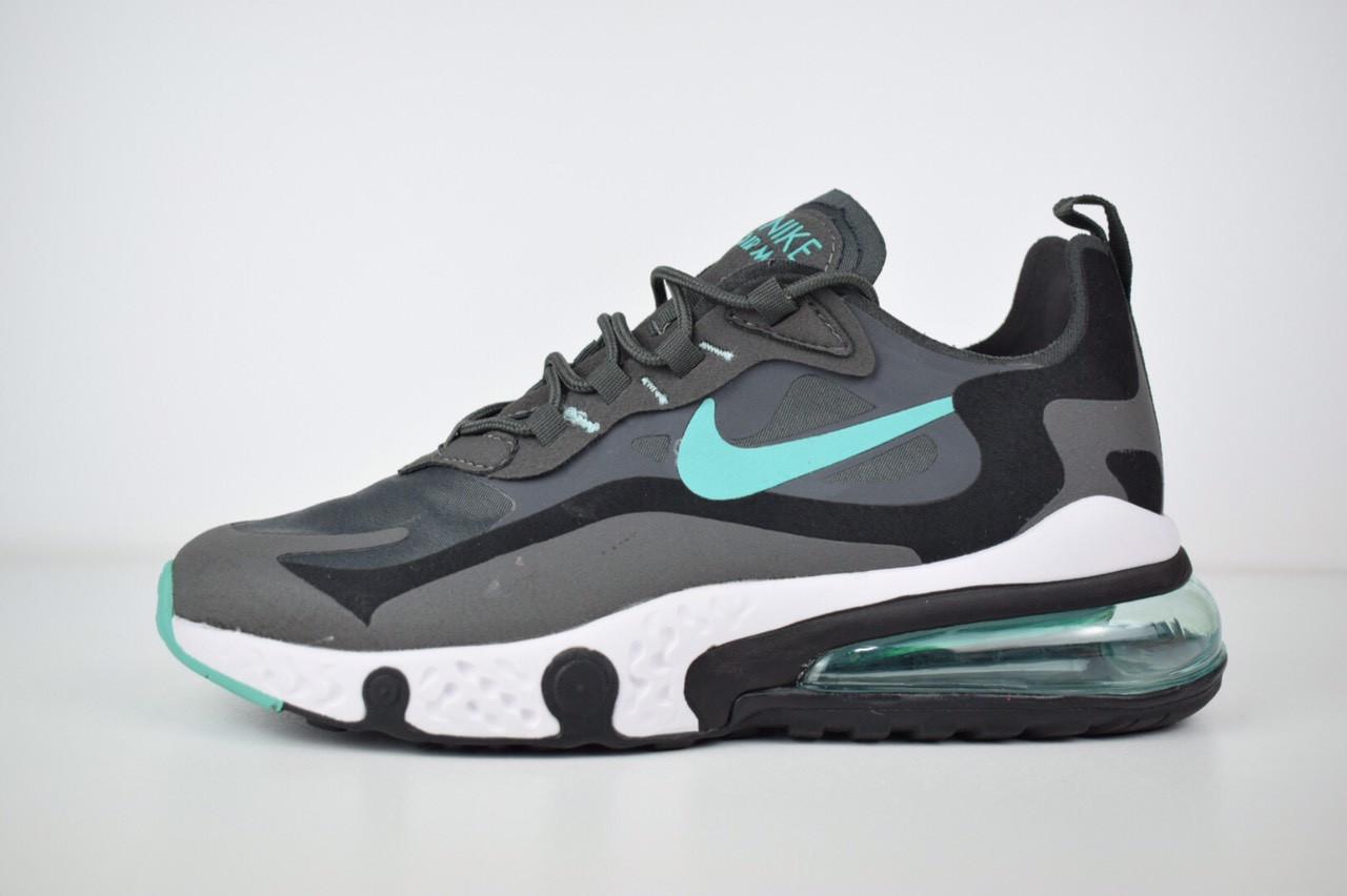 Мужские текстильные кроссовки Nike Air Max React 270 серые