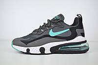 Мужские текстильные кроссовки Nike Air Max React 270 серые, фото 1