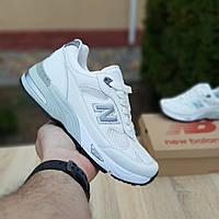 Кроссовки женские Nеw Balance 991 белые с серым, фото 1