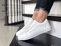 Кроссовки женские Vans белые, фото 1