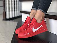 Кроссовки женские Nike Air Force красные, фото 1