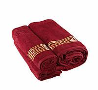 Полотенце махровое Versace красное