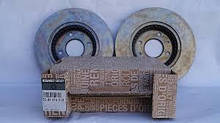 Комплект вентильованих гальмівних дисків Renault Sandero (Original 8201464598=8671005976)
