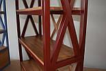 Книжный стеллаж из дерева в стиле лофт, фото 2