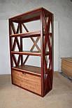 Книжный стеллаж из дерева в стиле лофт, фото 5