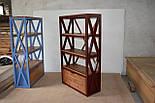 Книжный стеллаж из дерева в стиле лофт, фото 4