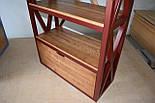 Книжный стеллаж из дерева в стиле лофт, фото 7