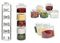 Набор баночек для специй Spice Tower Carousel из 6 сосудов   спецовник 6 шт