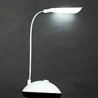 Настольная лампа светодиодная на гибкой ручке LED X-Balog BL-7188 Белая на батарейках